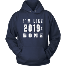 Load image into Gallery viewer, Class Of 2019 Senior Hoodies - 2019% Done - Navy