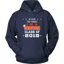 Load image into Gallery viewer, I'm A Senior - Senior 19 Hoodie - Navy