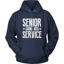 Load image into Gallery viewer, Senior Going Into Service - Class of 2019 Senior Hoodies - Navy