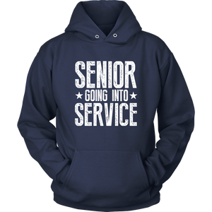 Senior Going Into Service - Class of 2019 Senior Hoodies - Navy
