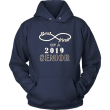 Load image into Gallery viewer, Senior Class Of 2019 Hoodie - Best Friend Of A 2019 Senior - Navy