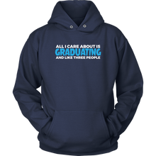 Load image into Gallery viewer, All I Care About Is Graduating - 2019 Senior Hoodie - Navy