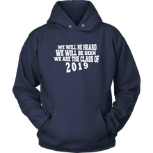 Load image into Gallery viewer, We Will Be Heard - Class of 2019 Hoodies - Navy