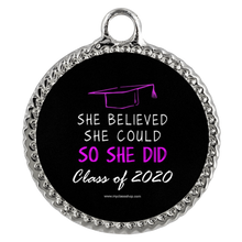 Load image into Gallery viewer, She Believed She Could So She Didi - Graduation Necklaces for Her
