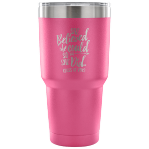 She Believed She Could So She Did - Graduation Coffee Mug - Light Pink