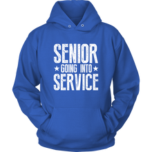 Load image into Gallery viewer, Senior Going Into Service - Class of 2019 Senior Hoodies - Blue
