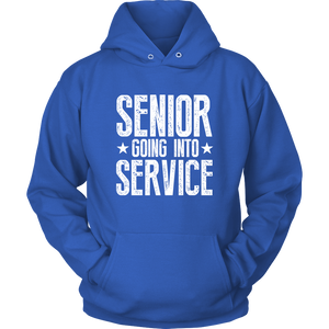 Senior Going Into Service - Class of 2019 Senior Hoodies - Blue