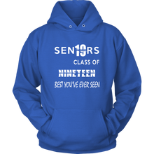Load image into Gallery viewer, Senior Class of 2019 Hoodie - Blue