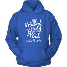 Load image into Gallery viewer, She Believed She Could - Class of 2020 Sweatshirt