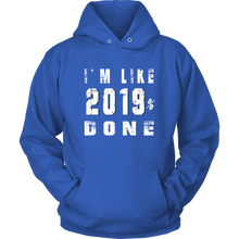Load image into Gallery viewer, Class Of 2019 Senior Hoodies - 2019% Done - Blue