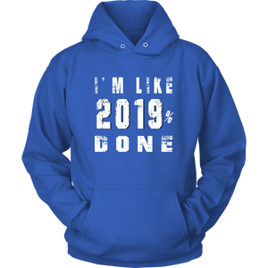 Class Of 2019 Senior Hoodies - 2019% Done - Blue