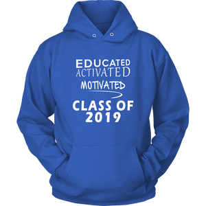 Educated Activated Motivated - Class of 2019 hoodie - Blue