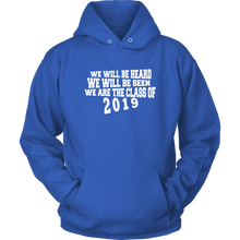 Load image into Gallery viewer, We Will Be Heard - Class of 2019 Hoodies - Blue