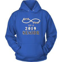 Load image into Gallery viewer, Senior Class Of 2019 Hoodie - Best Friend Of A 2019 Senior - Blue