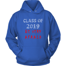 Load image into Gallery viewer, Class of 2019 hoodies with slogans blue