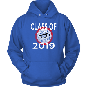 Born To Be Great - Senior 2019 Hoodies - Blue