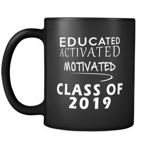 Educated Activated Motivated - Personalized Graduation Mug