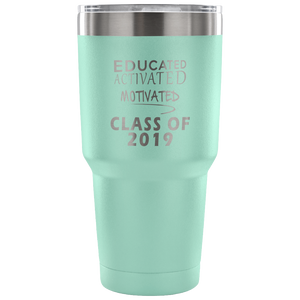 Graduation Mug - Educated Activated Motivated - Teal