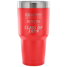 Load image into Gallery viewer, Graduation Mug - Educated Activated Motivated - Red