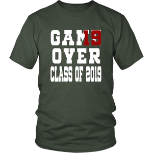 Class of 19 shirts - Game Over - Green