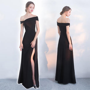 Black Mermaid Prom Dress