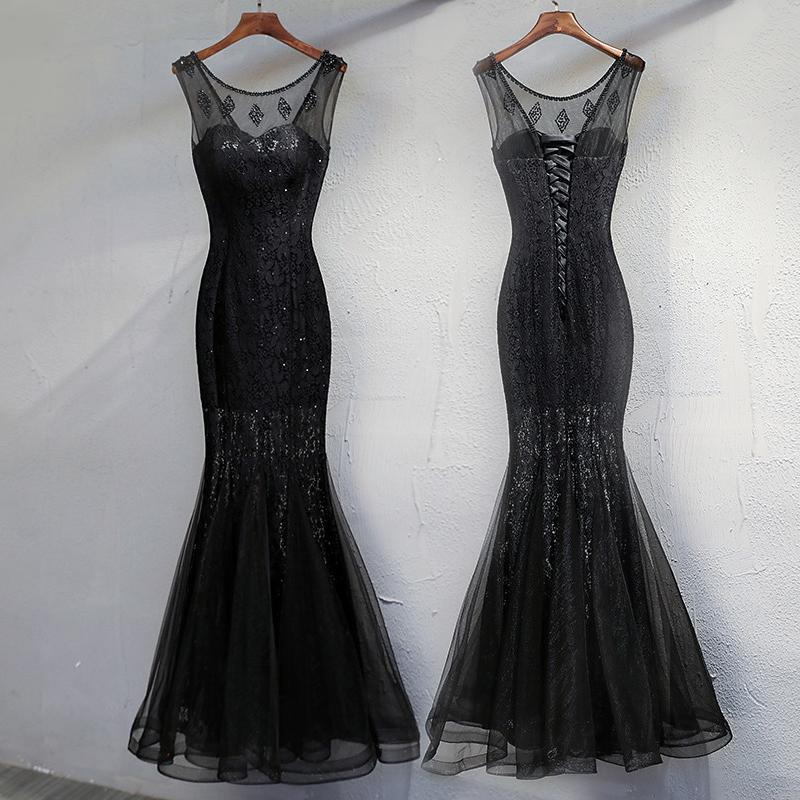 Black Long Prom Dress - Model 2019