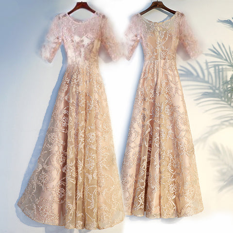 Champagne Long Dress 2019 - Long Sleeve