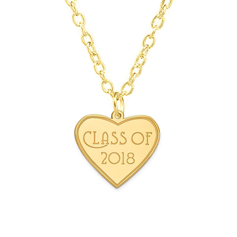 Heart-shaped Graduation necklace 2018