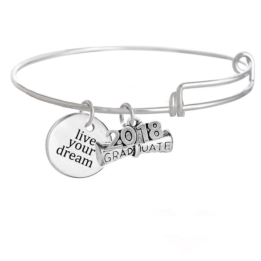 Class of 2018 prom bracele ''live your dream""