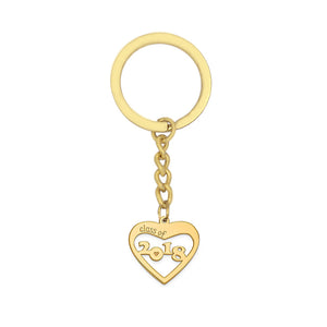 Class of 2018 graduation heart-shaped key holder