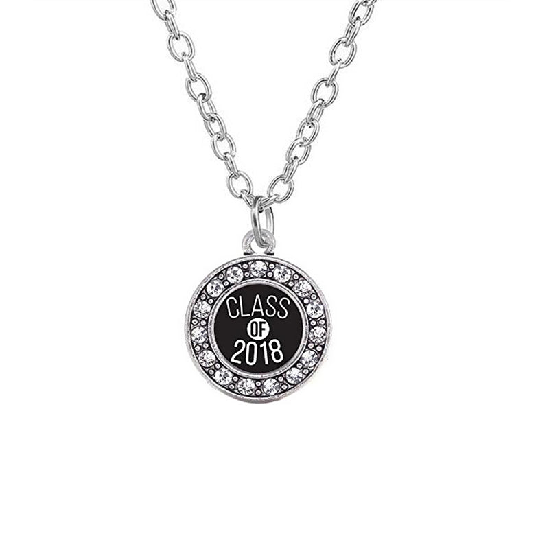 Class of 2018 graduation pendant necklace