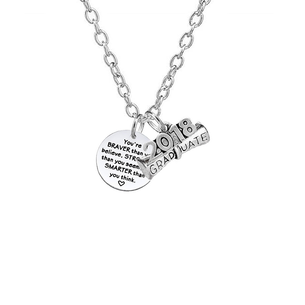 Class of 2018 collection graduation necklace for her