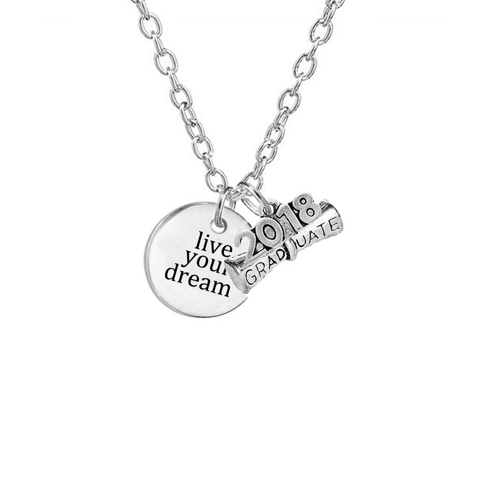 Graduation quote necklace 2018 class collection