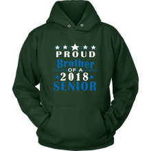 Load image into Gallery viewer, Proud Brother of 2018 Senior - Class of 2018 sweatshirts