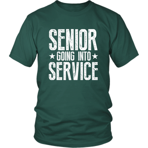 Senior Going Into Service - Class of 2019 T-shirt - Green