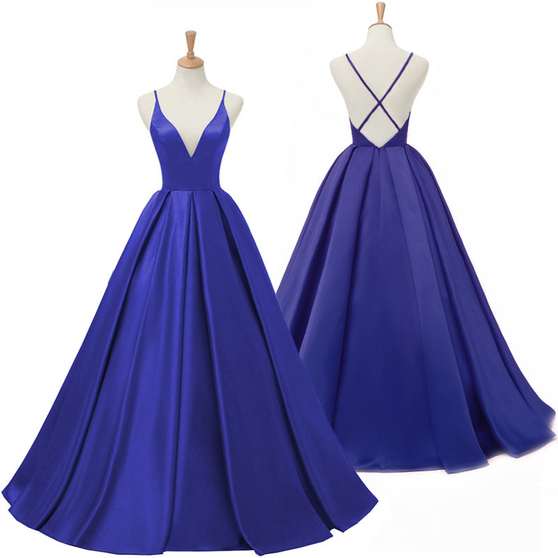 4c4e437e7e ... My Class Shop. Dark Royal Blue Long Prom Dress