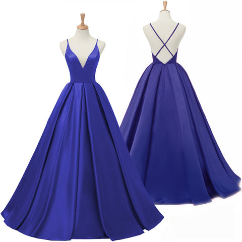 Dark Royal Blue Long Prom Dress