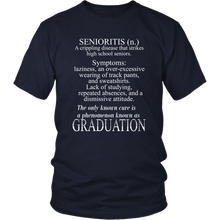 Load image into Gallery viewer, Senioritis - Class of 2019 T shirts - Navy
