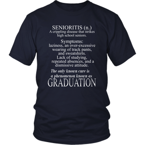 Senioritis - Class of 2019 T shirts - Navy