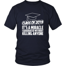 Load image into Gallery viewer, It's A Miracle - Class Of 2019 Shirts Ideas - Navy