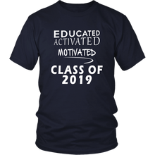 Load image into Gallery viewer, Class of 2019 t shirt slogans - Sen19rs shirt - Navy