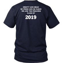 Load image into Gallery viewer, Class T-shirts 2019 - Mighty and Mean - Navy