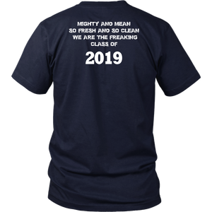 Class T-shirts 2019 - Mighty and Mean - Navy