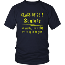 Load image into Gallery viewer, We Solemnly Swear - Class of 2019 T shirts - Navy