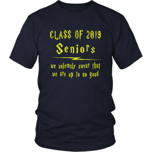We Solemnly Swear - Class of 2019 T shirts - Navy