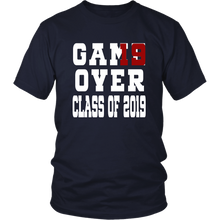 Load image into Gallery viewer, Class of 19 shirts - Game Over - Navy