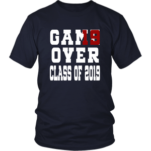 Class of 19 shirts - Game Over - Navy