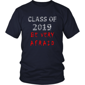 Class of 2019 shirts with slogans - Navy