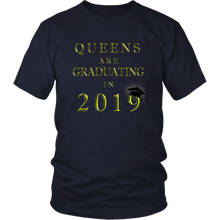 Load image into Gallery viewer, Queens Are Graduating In 2019 - Senior 2019 Shirt - Navy