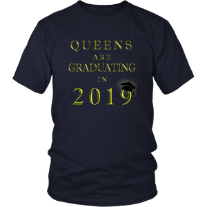 Queens Are Graduating In 2019 - Senior 2019 Shirt - Navy